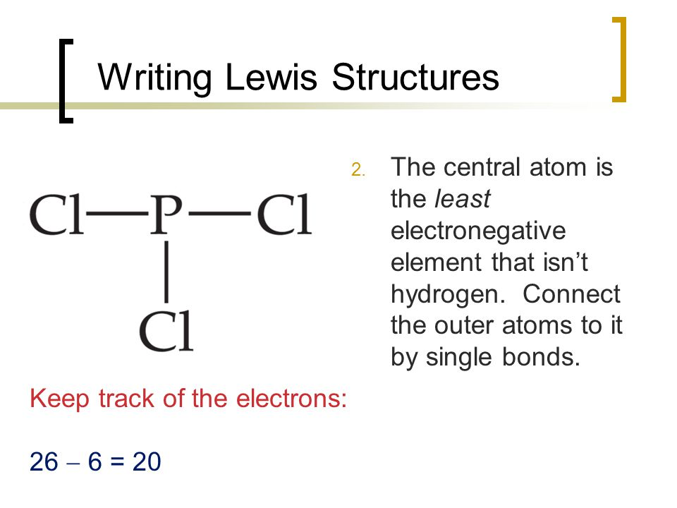 Writing Lewis Structures