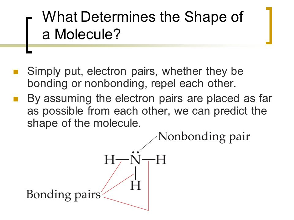 What Determines the Shape of a Molecule