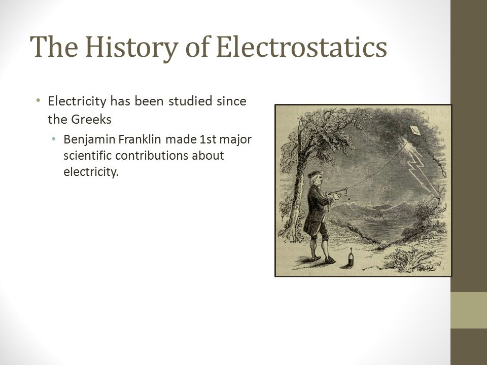 The History of Electrostatics
