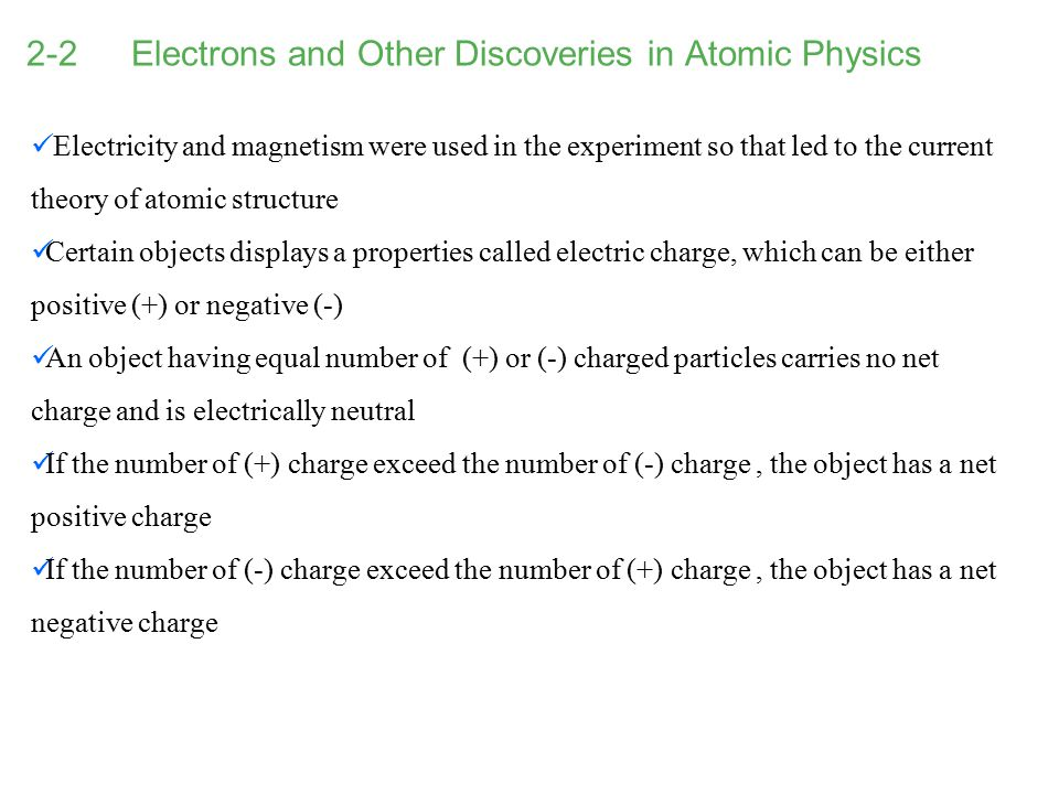 2-2 Electrons and Other Discoveries in Atomic Physics