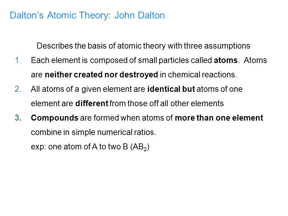 Dalton's Atomic Theory: John Dalton