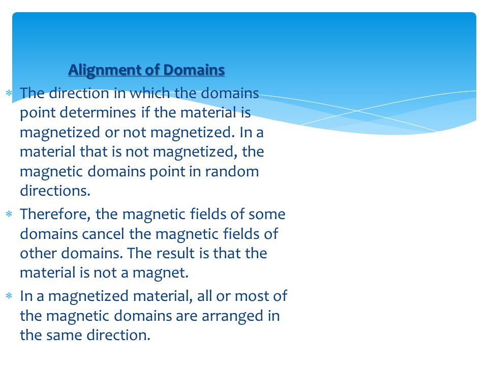 Alignment of Domains