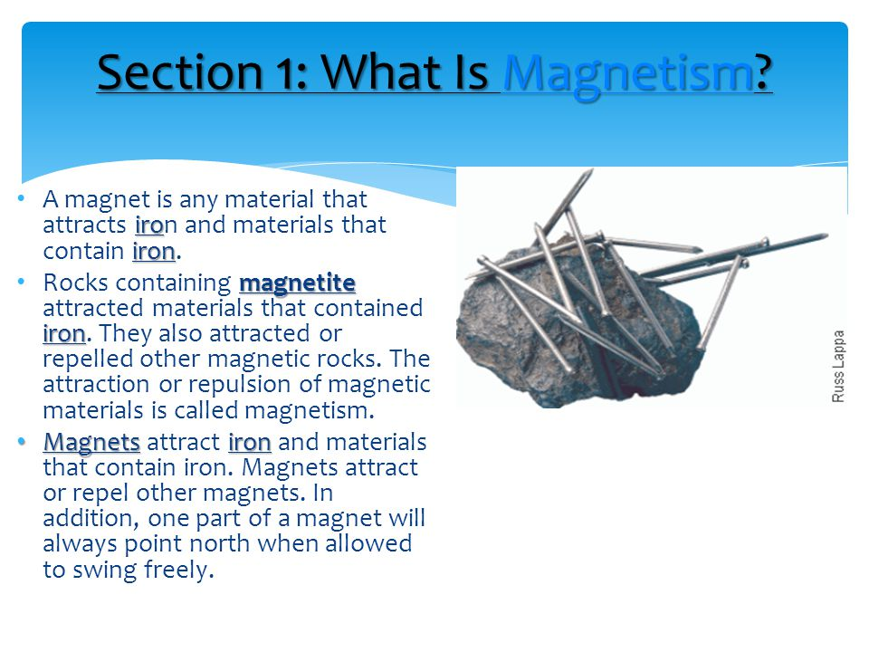 Section 1: What Is Magnetism