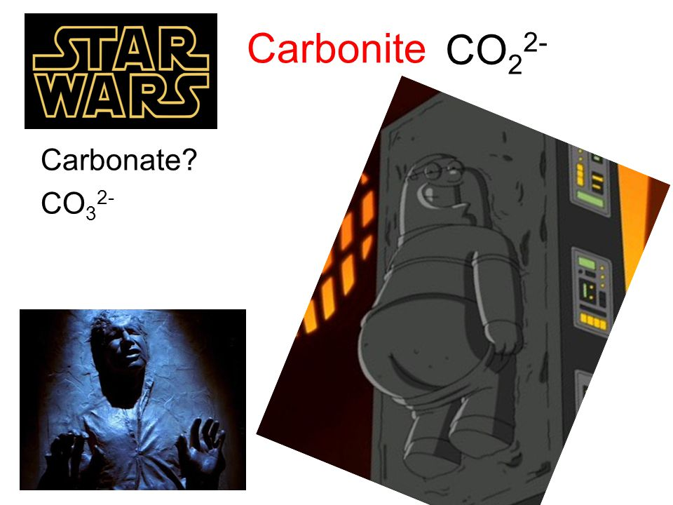 Carbonite CO22- Carbonate CO32-