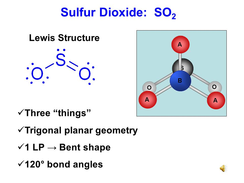 Sulfur Dioxide: SO2 Lewis Structure Three things