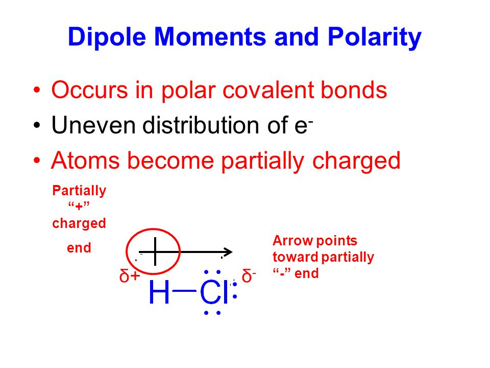 Dipole Moments and Polarity
