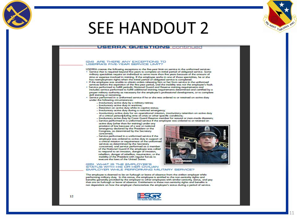 SEE HANDOUT 2