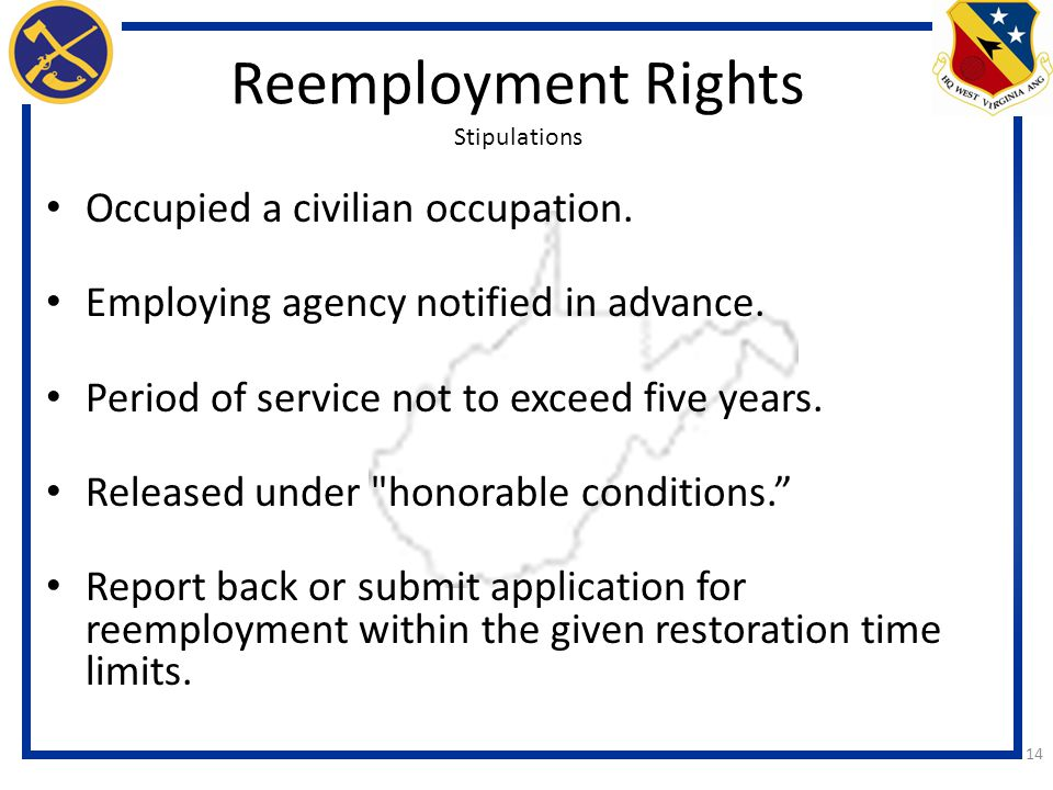 Reemployment Rights Stipulations