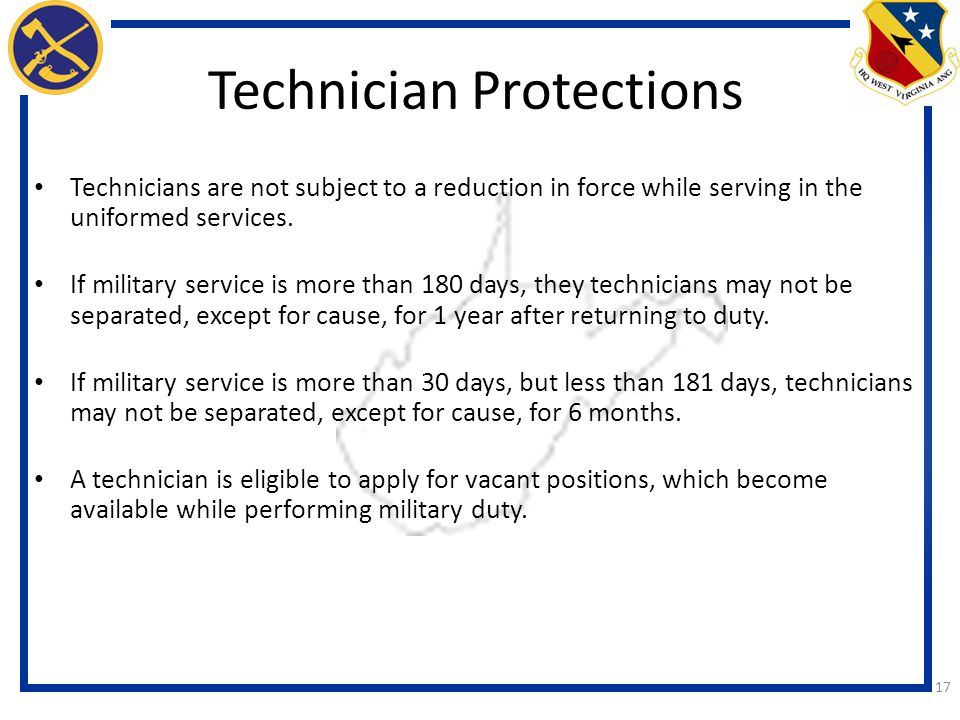 Technician Protections