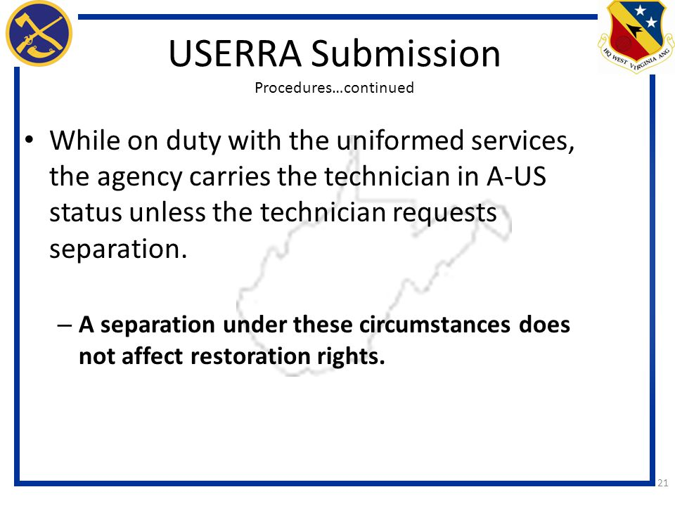 USERRA Submission Procedures…continued