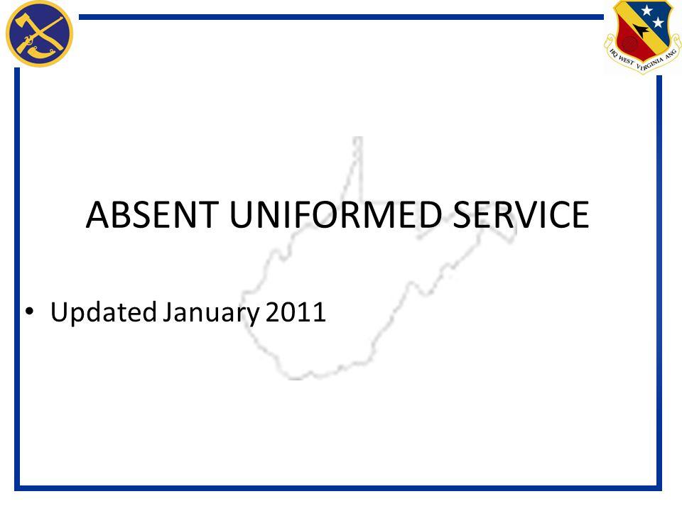 ABSENT UNIFORMED SERVICE