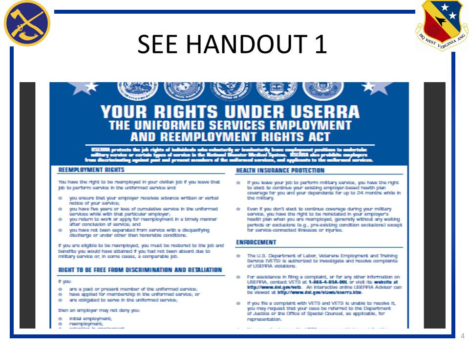 SEE HANDOUT 1