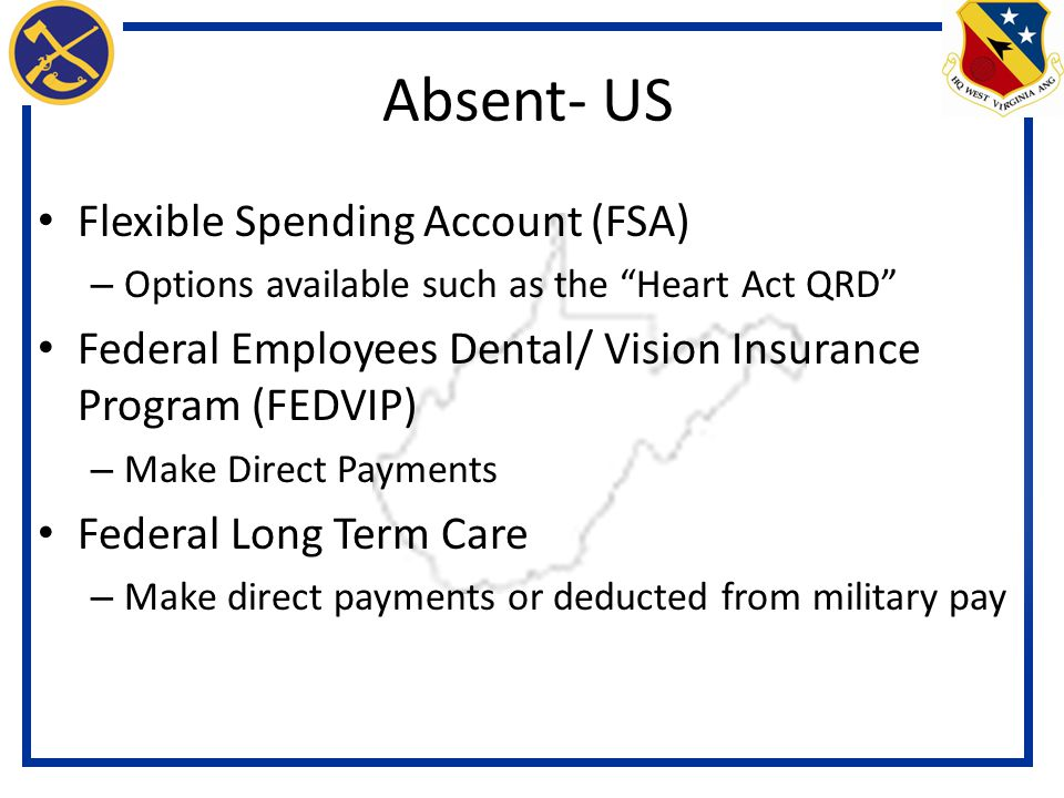 Absent- US Flexible Spending Account (FSA)