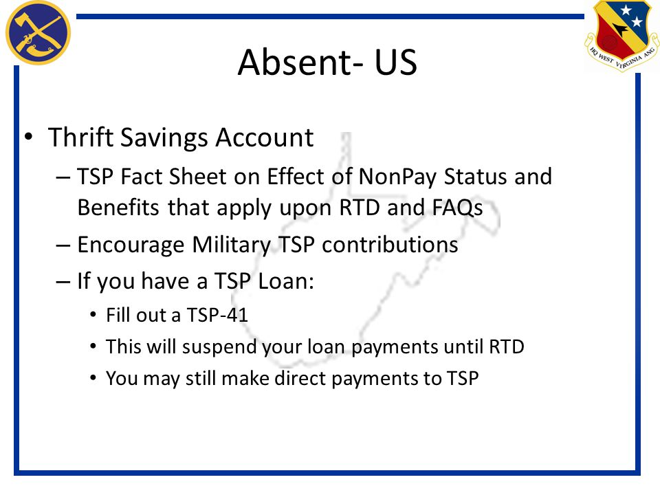 Absent- US Thrift Savings Account