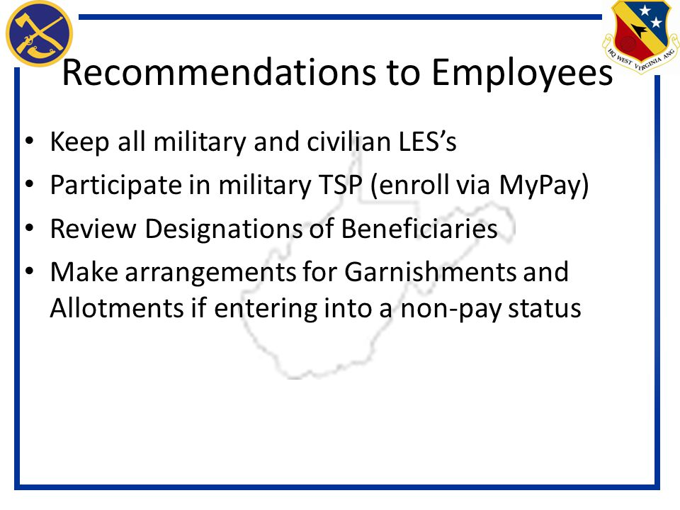 Recommendations to Employees