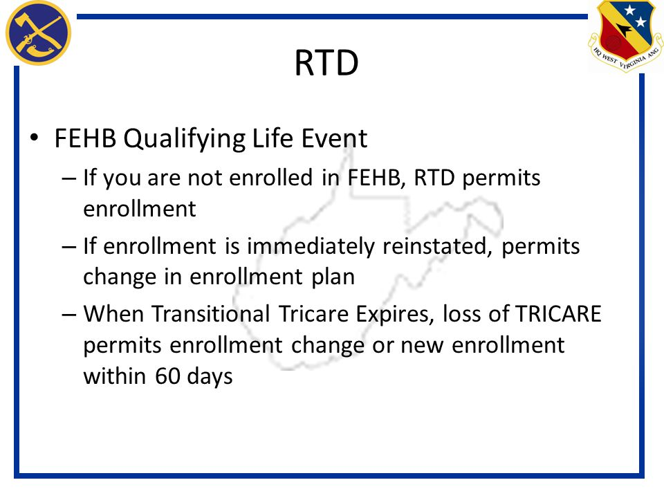 RTD FEHB Qualifying Life Event