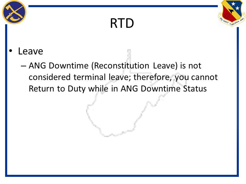 RTD Leave.