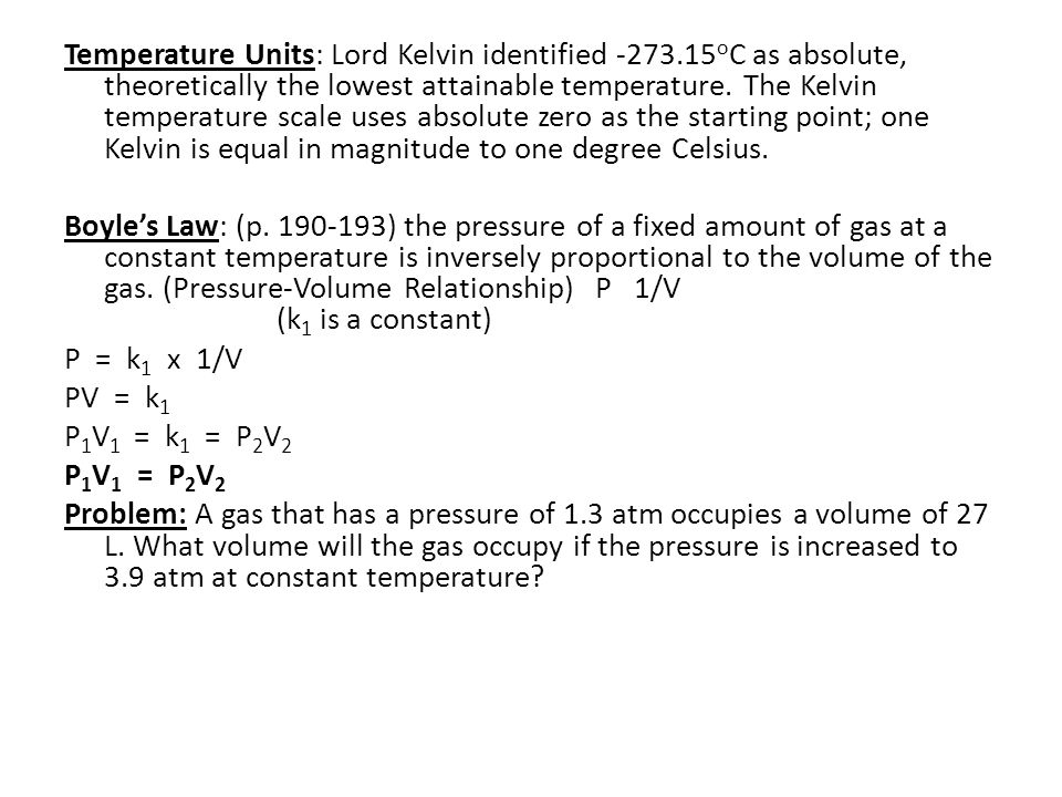 Temperature Units: Lord Kelvin identified -273