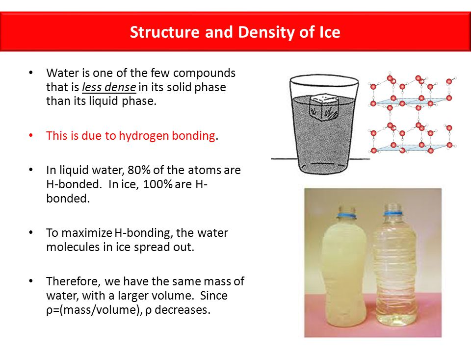 Structure and Density of Ice