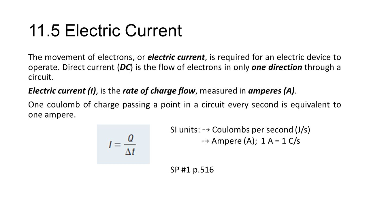 11.5 Electric Current