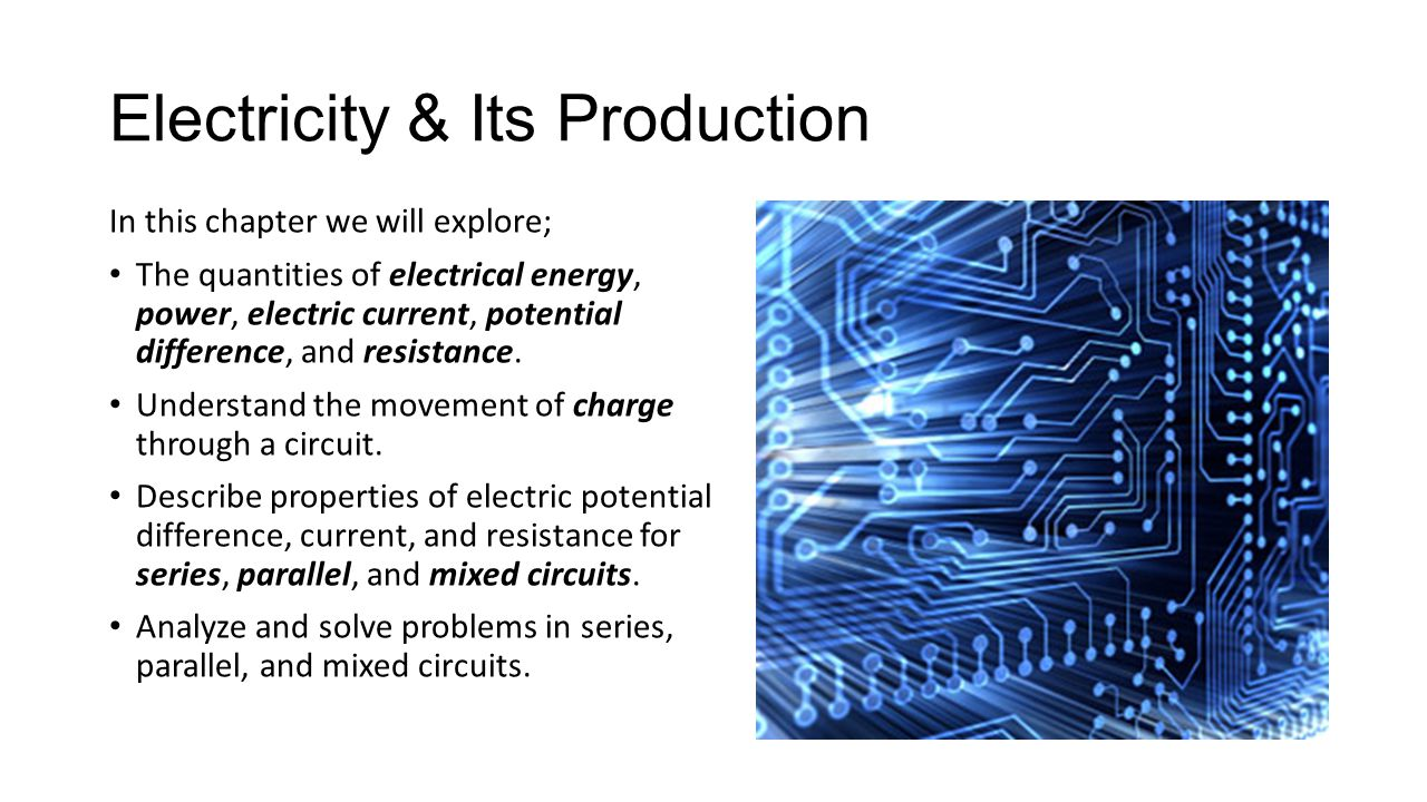 Electricity & Its Production