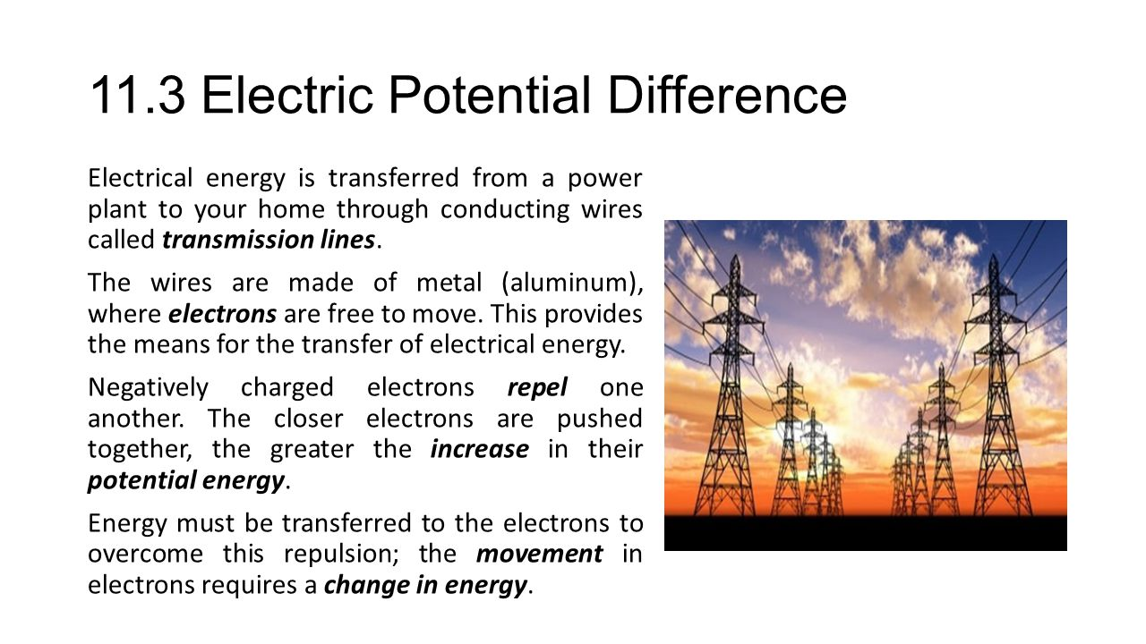 11.3 Electric Potential Difference