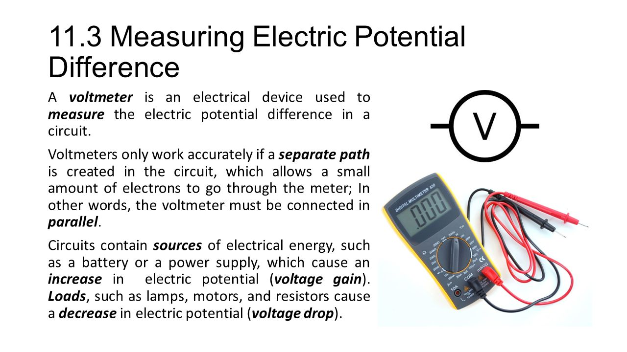 11.3 Measuring Electric Potential Difference