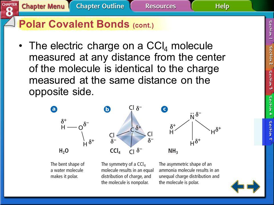 Polar Covalent Bonds (cont.)