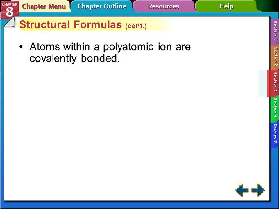 Structural Formulas (cont.)