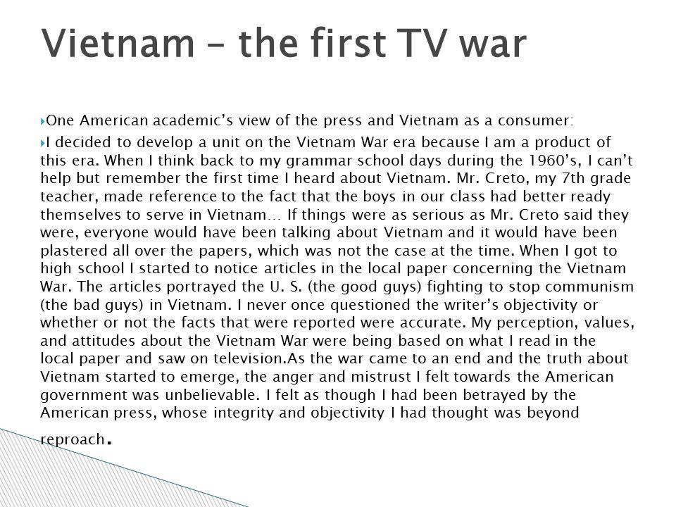 Vietnam – the first TV war