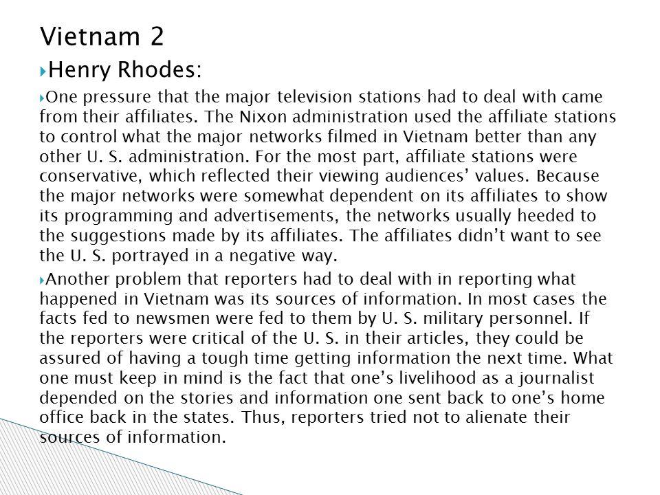 Vietnam 2 Henry Rhodes: