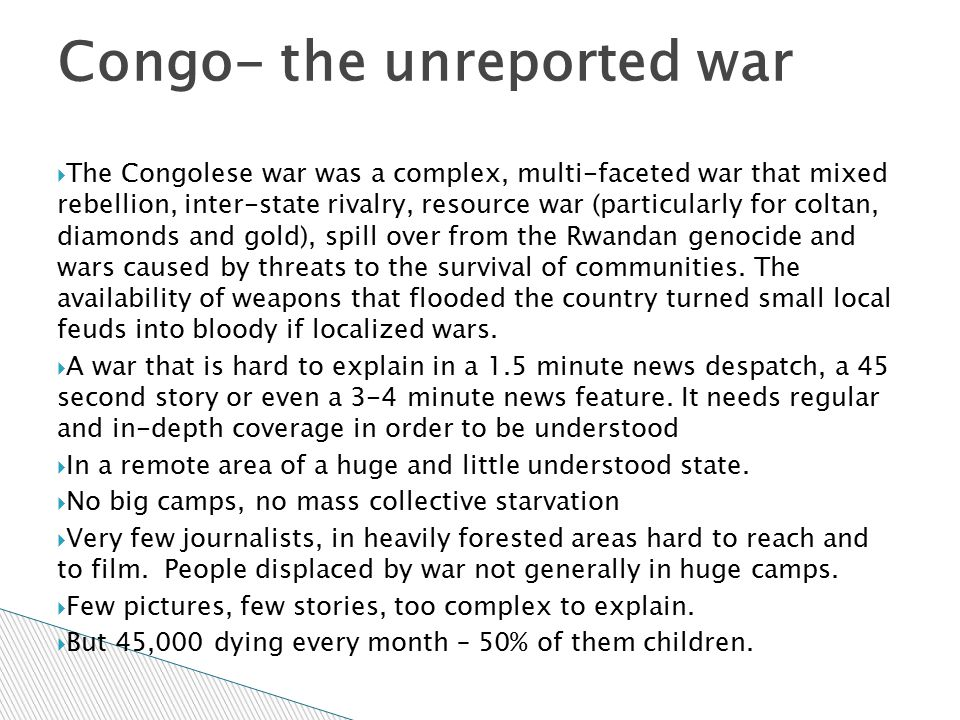 Congo- the unreported war