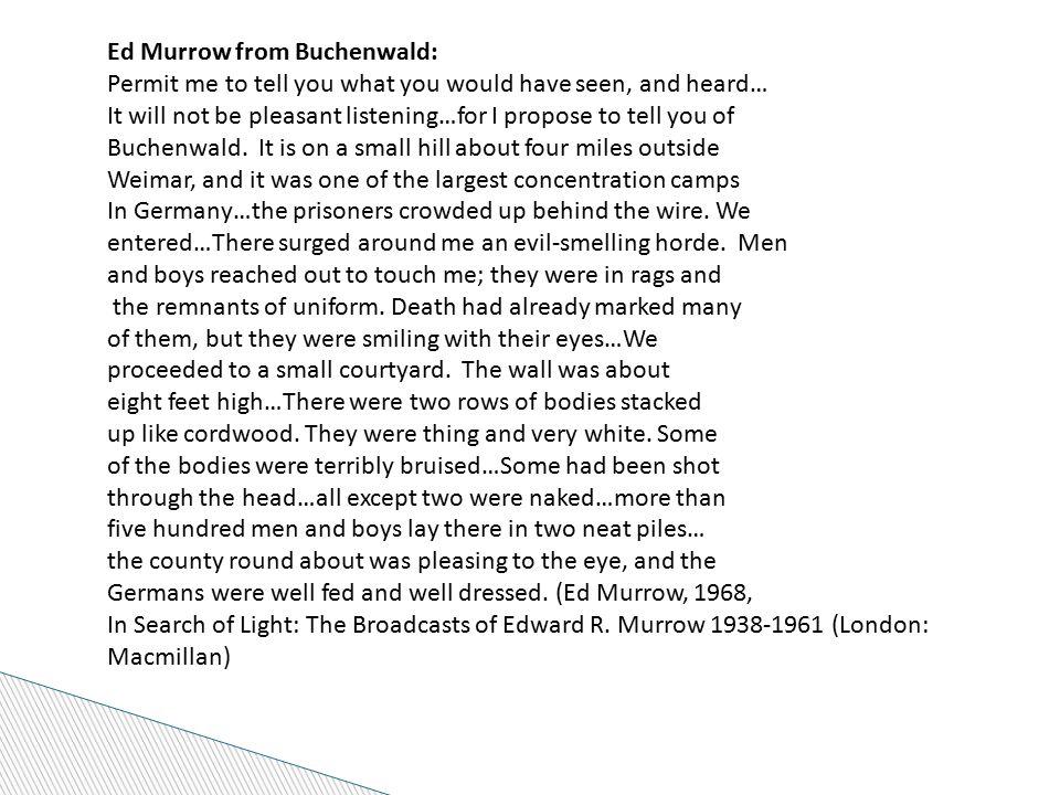 Ed Murrow from Buchenwald: