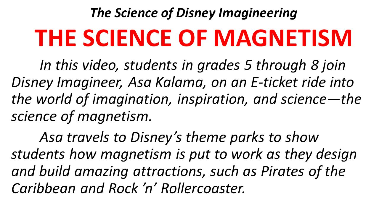 The Science of Disney Imagineering