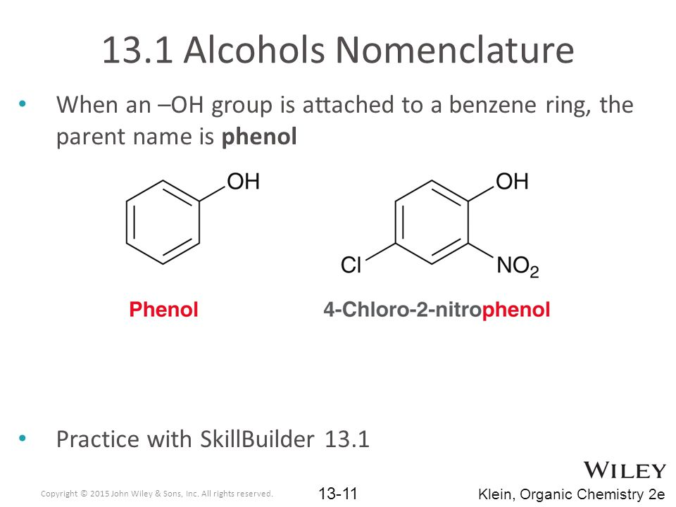 13.1 Alcohols Nomenclature