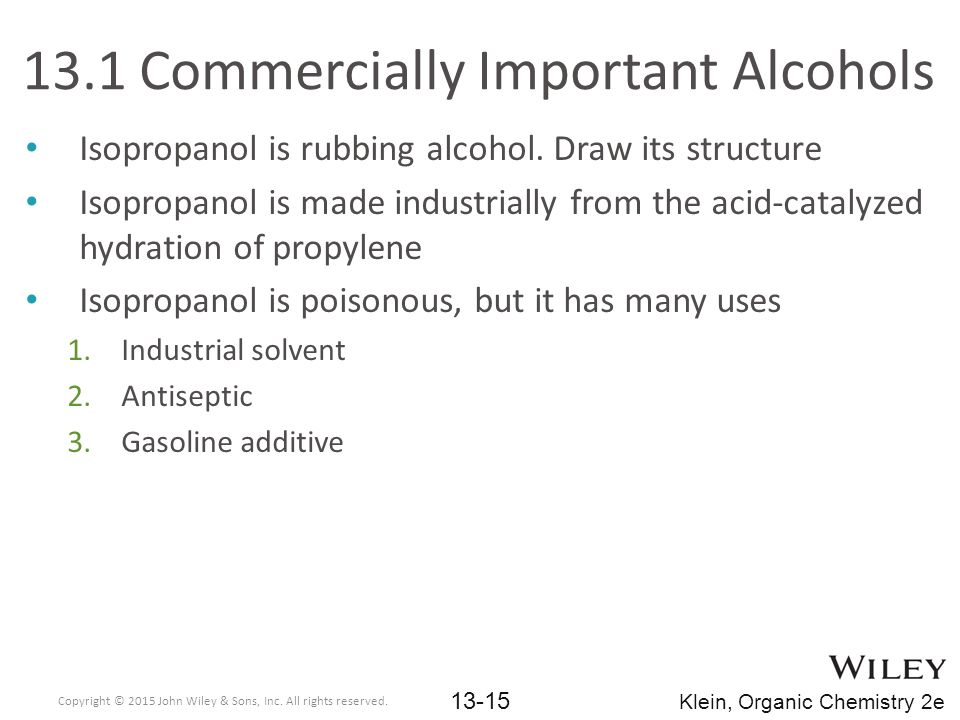 13.1 Commercially Important Alcohols