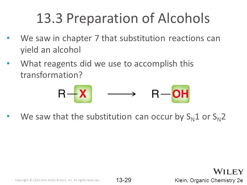 13.3 Preparation of Alcohols