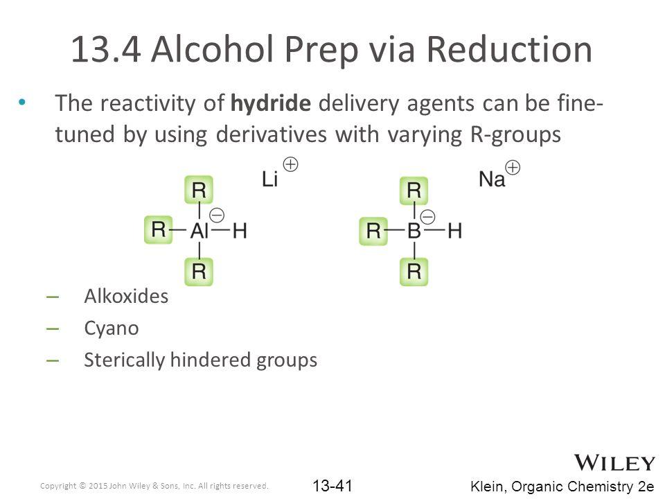 13.4 Alcohol Prep via Reduction