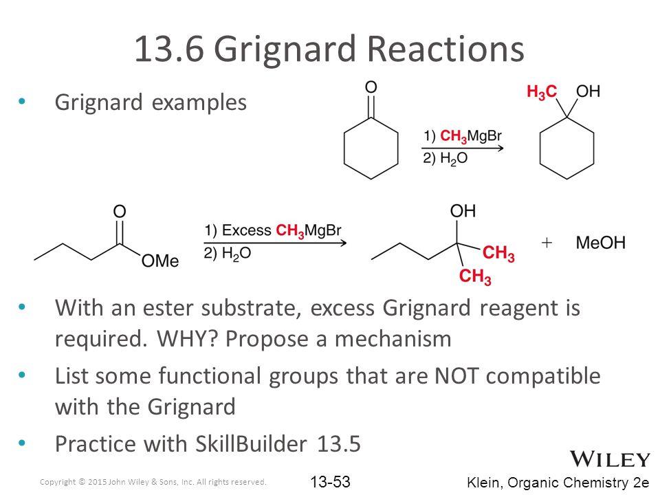 13.6 Grignard Reactions Grignard examples