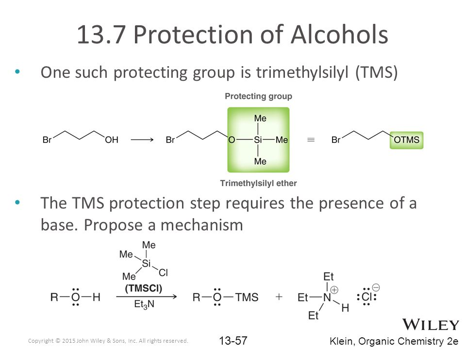 13.7 Protection of Alcohols