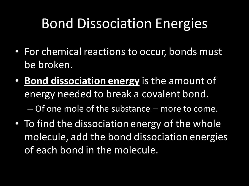Bond Dissociation Energies