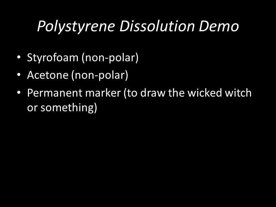 Polystyrene Dissolution Demo