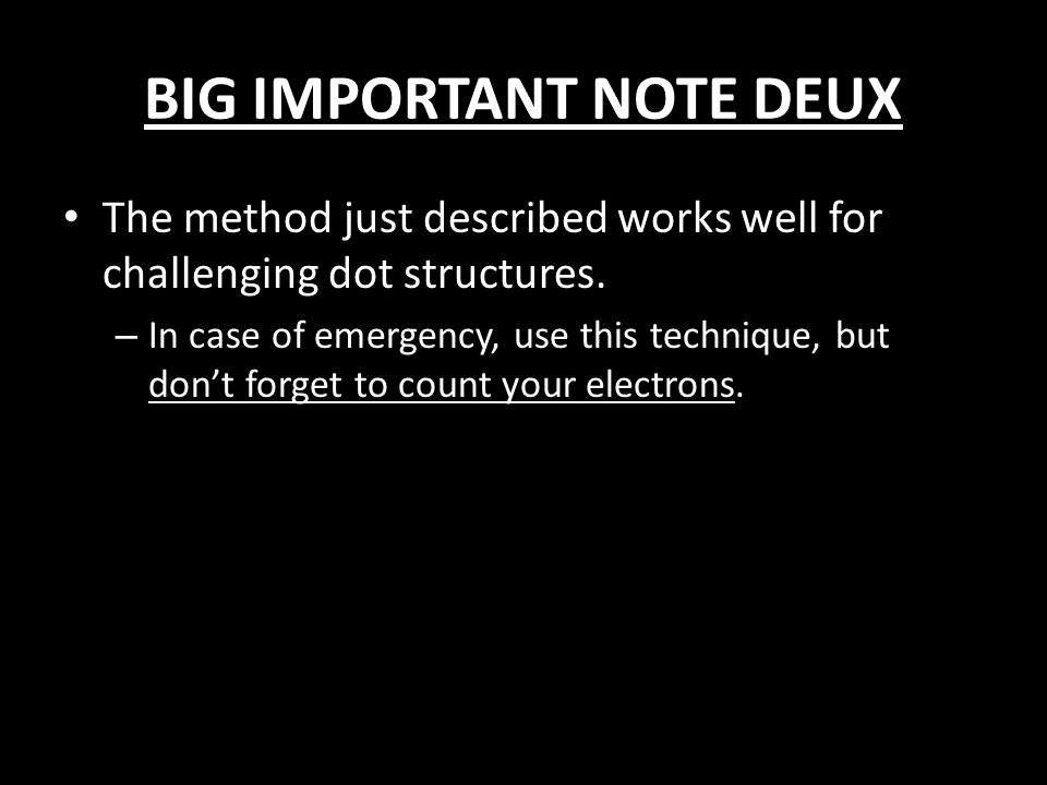 BIG IMPORTANT NOTE DEUX