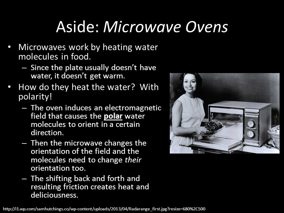 Aside: Microwave Ovens