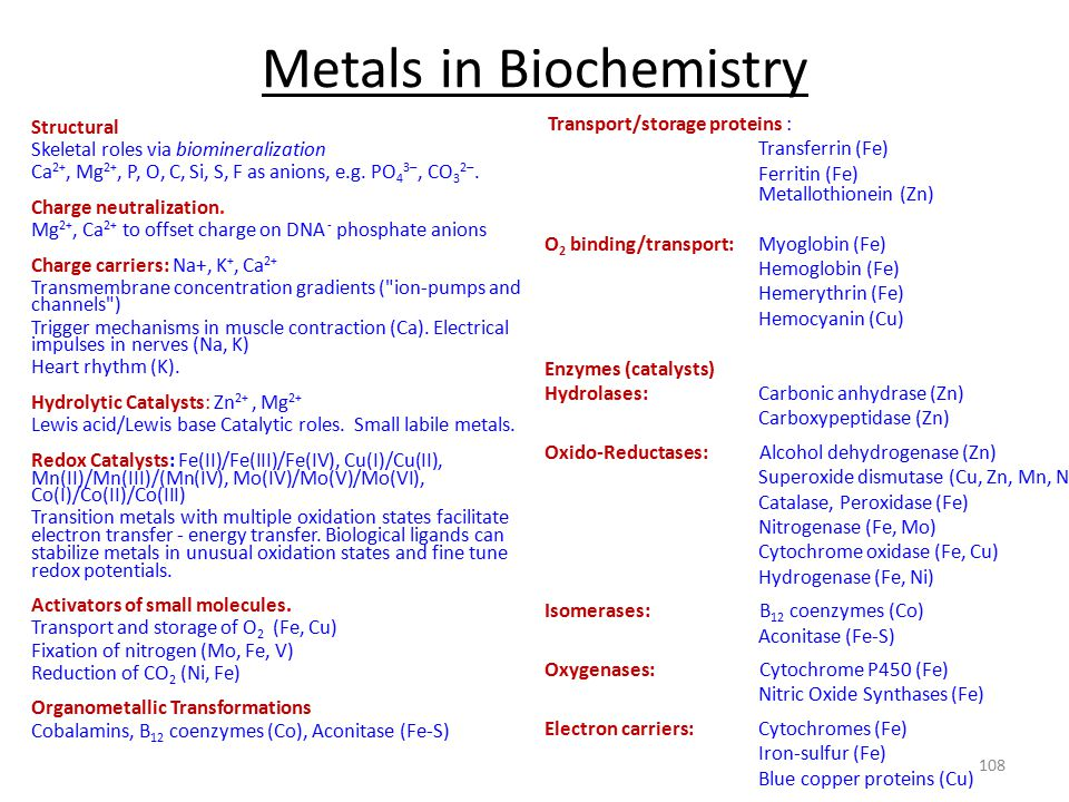 Metals in Biochemistry