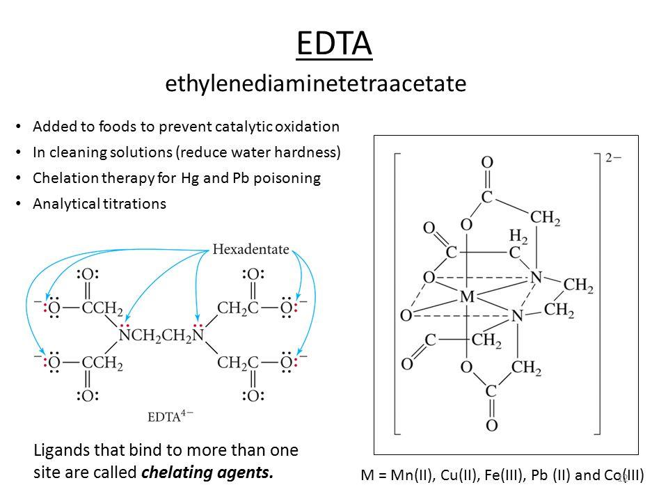 EDTA ethylenediaminetetraacetate