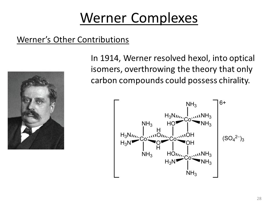 Werner Complexes Werner's Other Contributions