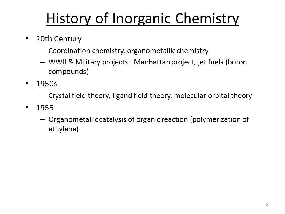 History of Inorganic Chemistry