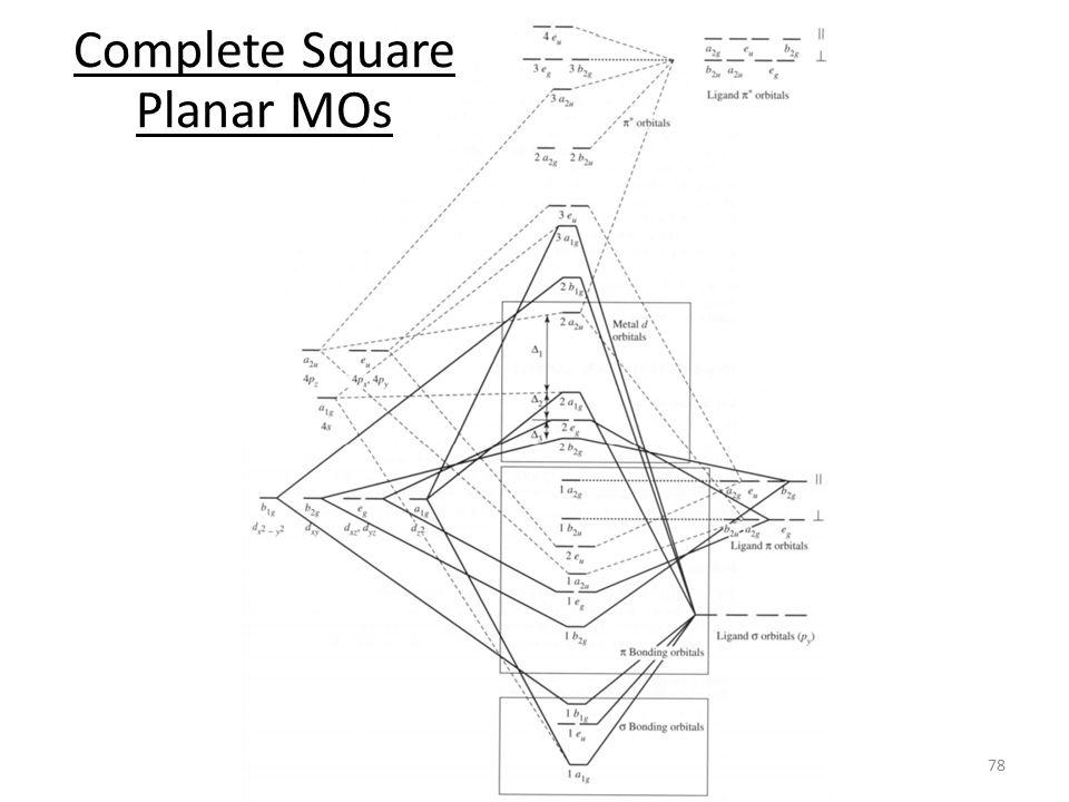 Complete Square Planar MOs