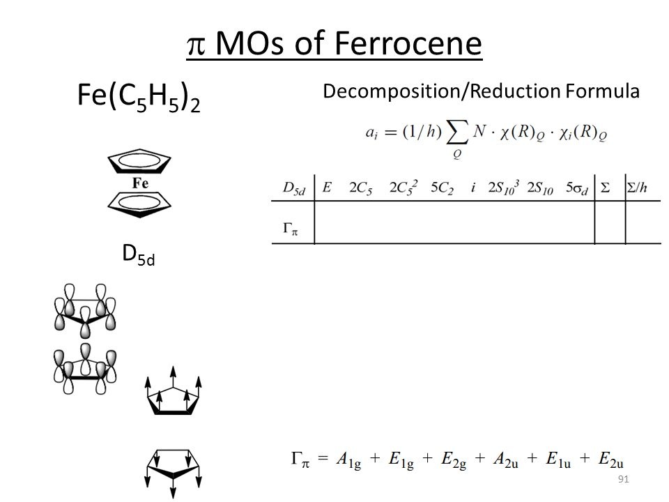 Decomposition/Reduction Formula